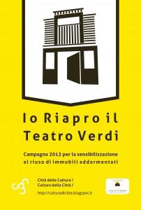 """Campagna di crowdfunding """"Io riapro il Verdi"""""""
